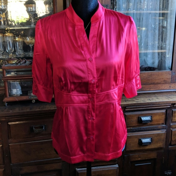 Dialogue Tops Nwot Washable Silk Spandex Blouse Poshmark